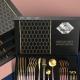24pcs Gold Dinnerware Set